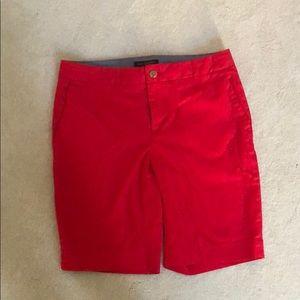 Banana Republic red Bermuda shorts